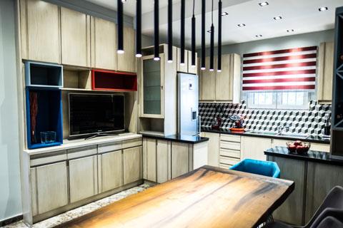 ισόγεια κατοικία, ανακαίνιση, εσωτερικός χώρος, interior design, πατίνα, κουζίνα