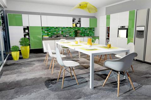 σχεδιασμός κουζίνας τρισδιάστατη απεικονιση 3d